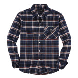 Mens Casual Button Down Slim Fit Flannel Shirts Royal2088