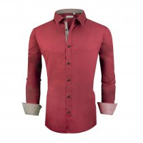 Alex Vando Mens Big & Tall Dress Shirts Regular Fit Long Sleeve Men Shirt Burgundy