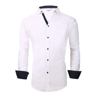 Alex Vando Mens Big & Tall Dress Shirts Regular Fit Long Sleeve Men Shirt White