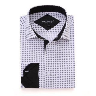 Mens Printed Casual Long Sleeve Dress Shirt print-01-20-70