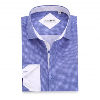 Mens Printed Casual Long Sleeve Dress Shirt