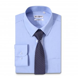 Mens Dress Shirts Solid Color Long Sleeve