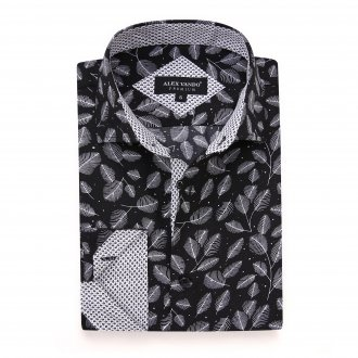 Mens Printed Casual Long Sleeve Dress Shirt print-01-K1656