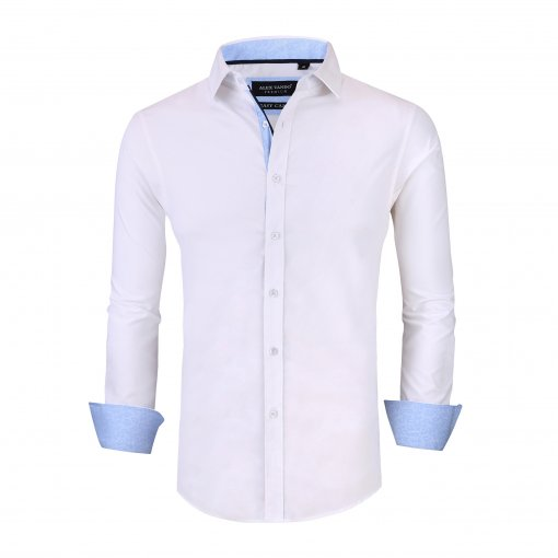 Alex Vando Mens Dress Shirts Wrinkle Free Slim Fit Long Sleeve Men Shirt