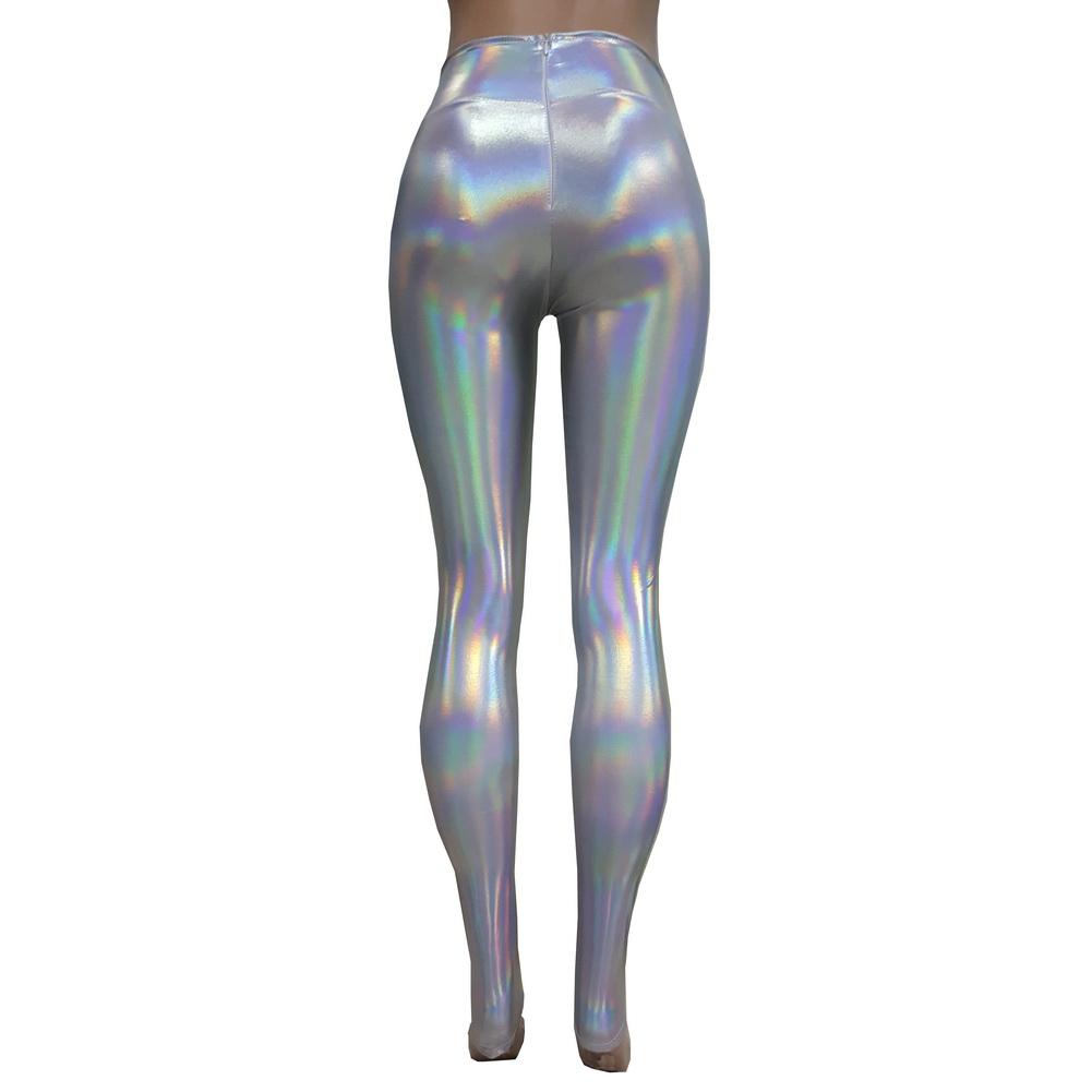 bcc6a01b417b96 US$ 26 - Iridescent Holographic Yoga Pants Legging Rave Festival Clothes  Outfits Women vintage Leggings Clothing - www.pindarave.com
