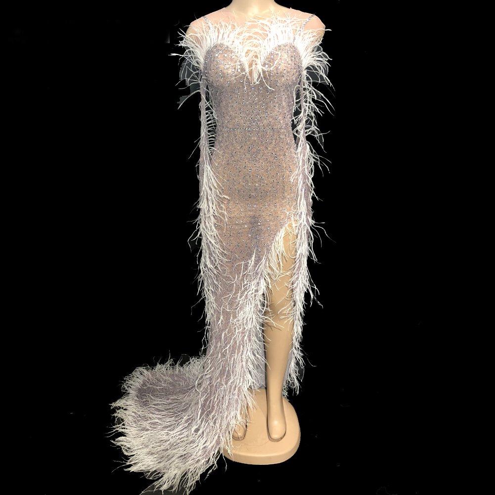 Drag Rhinestone Evening Gowns