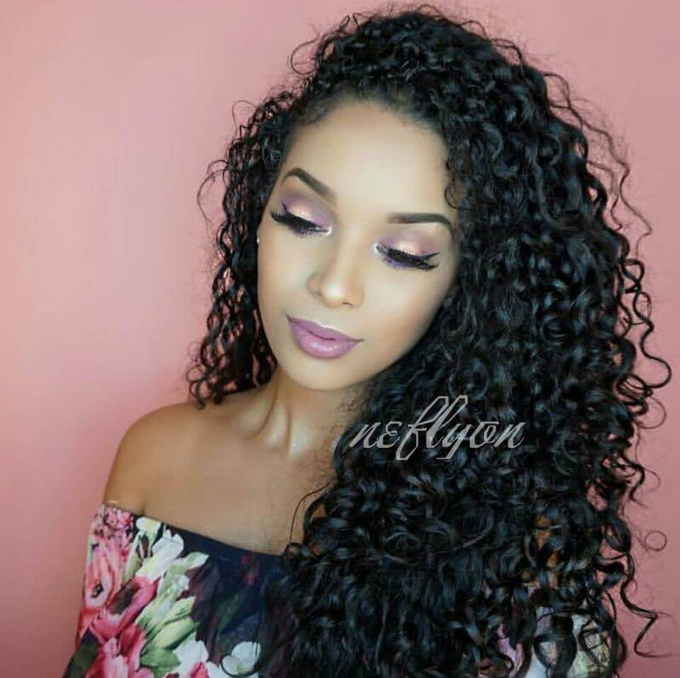 9485707bcdd Peruvian Hair 360 Lace Frontal Wigs Deep Curly 150% Density Human Hair Wigs  for Black Women with Baby Hair Natural Color