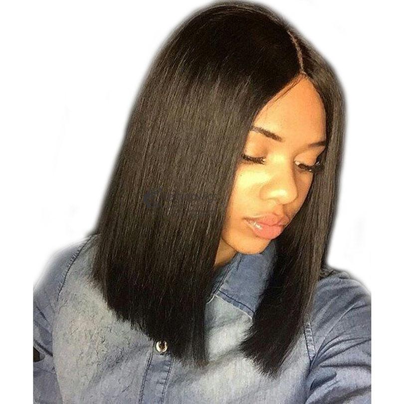 Us 132 13x6 Deep Part Short Bob Straight Lace Front Human Hair