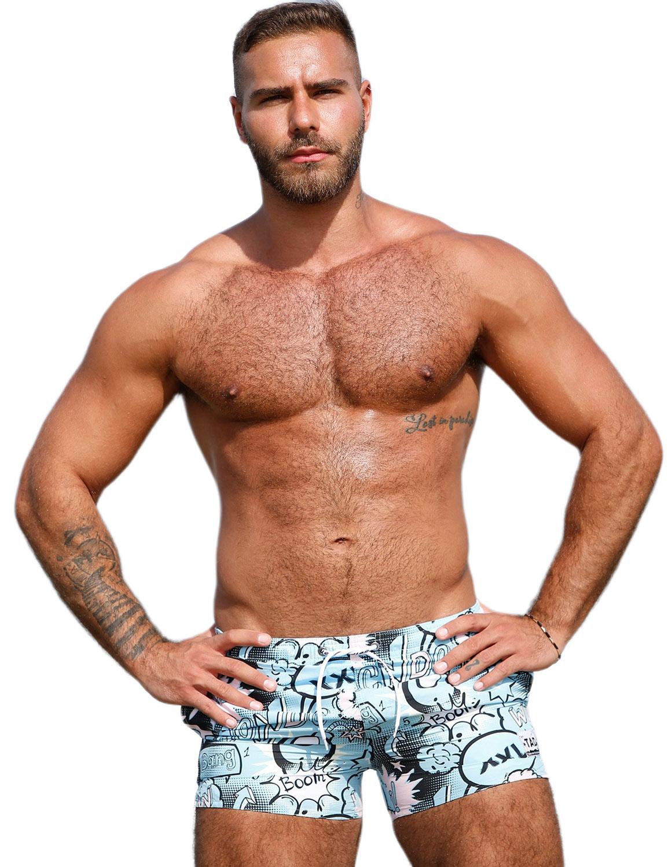 Men Swimming Trunks Boxer Quick Dry Swim Trunk Sport Board Shorts Swimwear Pants