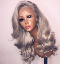 Loose Wave Grey Color Top QUality Hair Good Quality Lace Front Wigs,360 Lace wig ,full lace wig