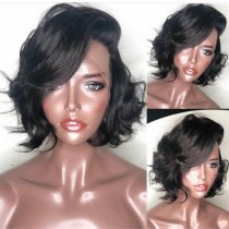 Free Shipping Natural Color Popular Hair Loose Wave Bob Lace Front Wig,360 lace wig,Full lace Wig