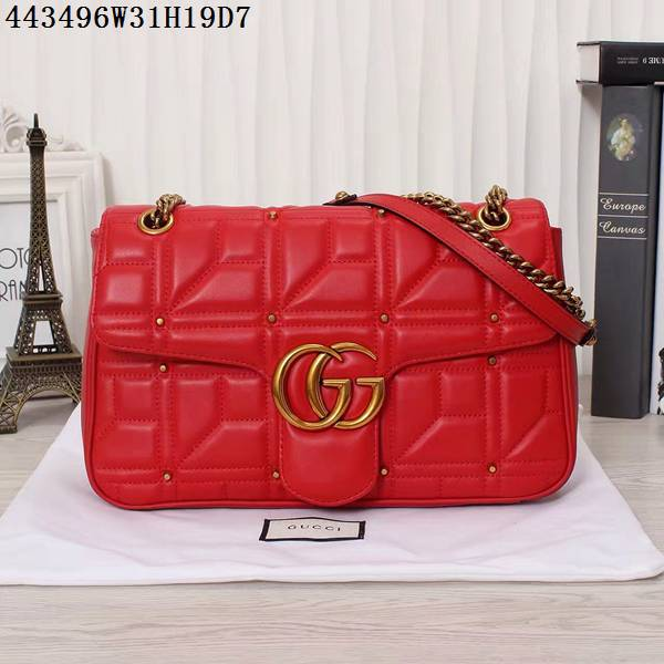 outlet store cce15 34983 グッチコピー バッグ GUCCI 2016秋冬新作 気質 レディース チェーンショルダーバッグ 443496-5