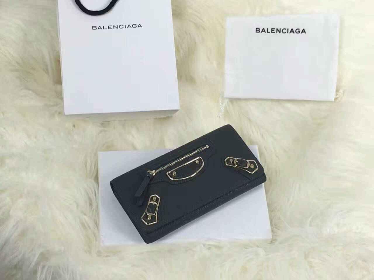 sale retailer 9f4c1 bc359 2017新作 バレンシアガコピー 財布 BALENCIAGA 高品質人気 レディース 二つ折り長財布 balenciagaqb102-1