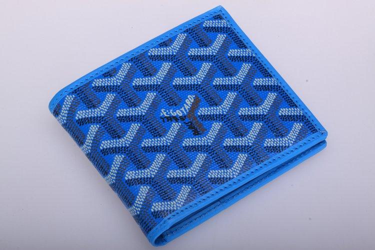 reputable site a23d2 b6b99 ゴヤールコピー財布 GOYARD サイフ さいふ メンズ財布 二つ折り財布 ブルー goyardwallet-6