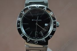 ブルガリBvlgari Bvlgari-Bvlgari SS/Black Asian 2813 Atomatic自動巻き