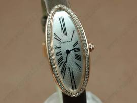 カルティエCartier Ladies RG Diamonds Baignoireクオーツ