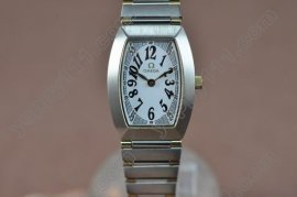 オメガOmega Ladies TT White Dial Swissクオーツ