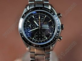 オメガOmega Speedmaster Day Date 3220.50.00 SS/SS Black A-7751自動巻き