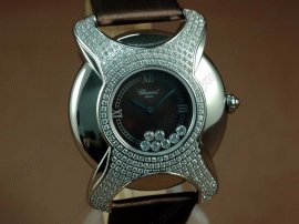 ショパールChopard Happy Sports Diamonds SS/LE Black Swiss Qtz腕時計