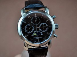 ヴァシュロンコンスタンタン Vacheron Constantin Watches SS Chrono/Moon Phase White Working M/Chronos手巻き