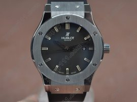 ウブロHublot Big Bang 45mm SS/RU Black Asia Eta 2824-2 Auto自動巻き