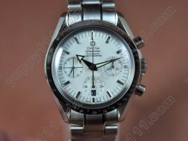 オメガOmega 7750 New Broad Arrow White Dial Silver Stk 7750自動巻き