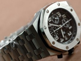 オーデマ・ピゲAudemars Piguet Royal Oak Chronograph SS Black In Asia 7750自動巻き