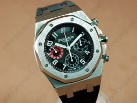 オーデマ・ピゲAudemars Piguet Royal Oak Chrono SS/RU Black A-7750自動巻き
