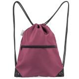 HOLYLUCK Men & Women Sport Gym Sack Drawstring Backpack Bag burgendy