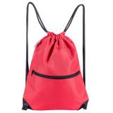 HOLYLUCK Men & Women Sport Gym Sack Drawstring Backpack Bag red