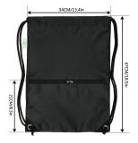 HOLYLUCK Men & Women Sport Gym Sack Drawstring Backpack Bag black color