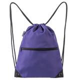 HOLYLUCK Men & Women Sport Gym Sack Drawstring Backpack Bag purple