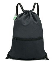 HOLYLUCK Men & Women Sport Gym Sack Drawstring Backpack Bag black color, DHL free shipping to USA