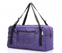 Free shipping HOLYLUCK Foldable Travel Duffel Bag For Women & Men Luggage Great for Gym (Purple)