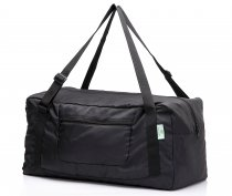 Free shipping HOLYLUCK Foldable Travel Duffel Bag For Women & Men Luggage Great for Gym (black)