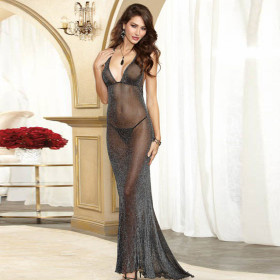 Sexy Lingerie Black Gown & Long Dress