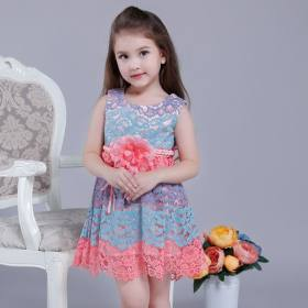 Fight color lace children's skirt