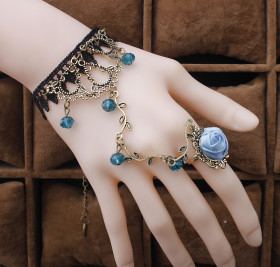 Lace bracelet with ring jewelry