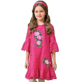 Lace Embroidery Flower Princess Dress