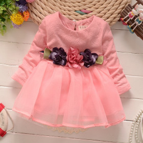 Pure cotton long sleeve Baby Dress