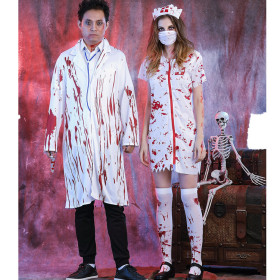 Halloween Horror bloody Nurse Costume lovers