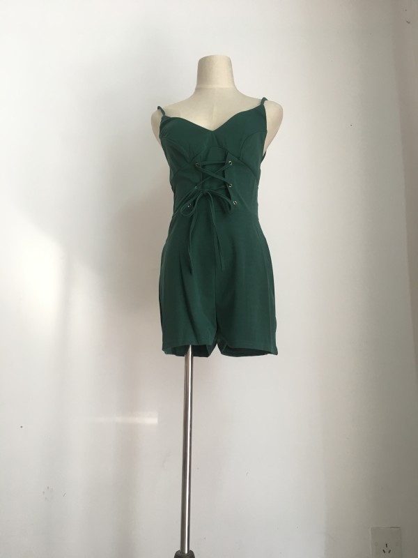 solid green  Jumpsuits