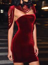 Fashion Velvet short dress
