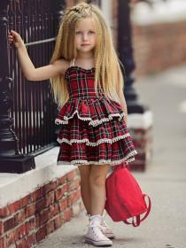 Sling Camisole  Plaid Dress