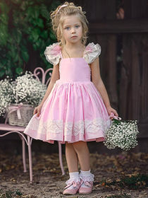 Lace embroidered princess skirt