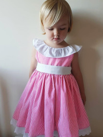 A bow-tied dress with a backness