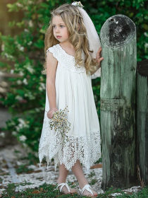Hollow lace fairy skirt