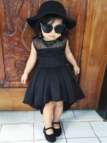 Retro Hepburn irregular dress