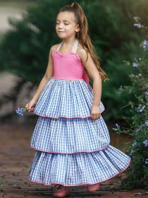 Big bow sling skirt Princess tiered skirt