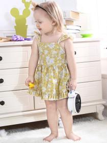 Baby Plaid strap-on waistcoat skirt